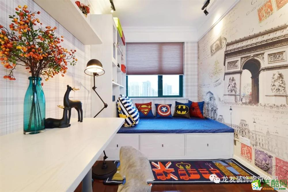 名城世家132平方简美风格 | 南京龙发装饰_美式风格-三室两厅两卫