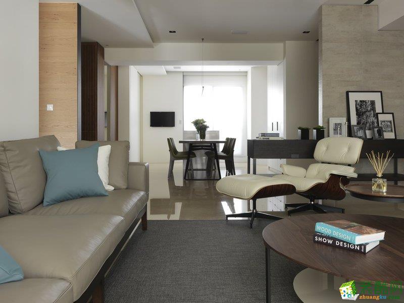 妙窝装饰—140方现代简约风格三室两厅装修效果图_现代风格-三室两厅两卫