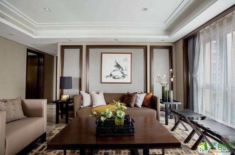 《重庆佳天下装饰》143平新中式风四居室装修效果图- 天盈首原