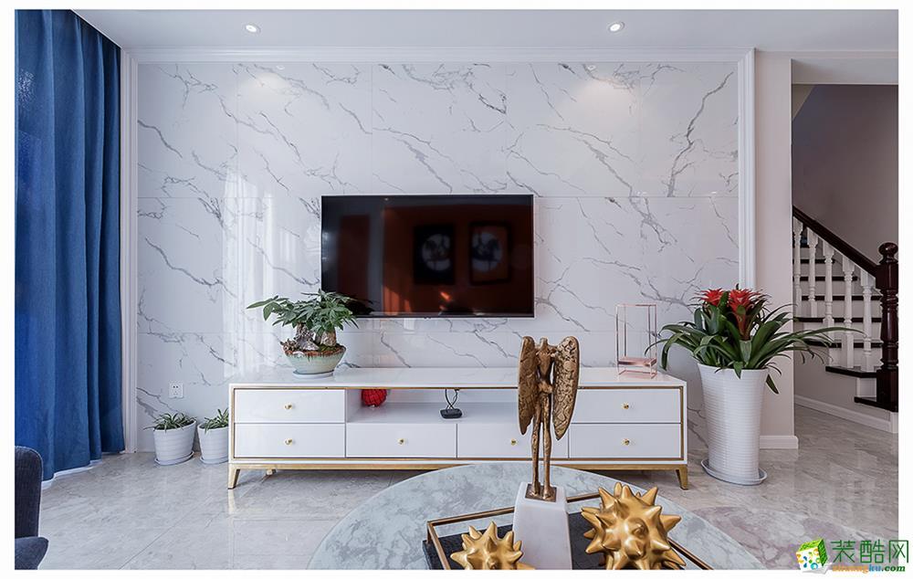 都都装饰-富阳山水国际160方混搭风格四居室装修