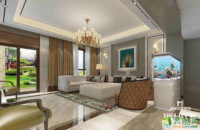 阿尔勒260平米欧式风格别墅住宅装修案例效果图--尚层装饰