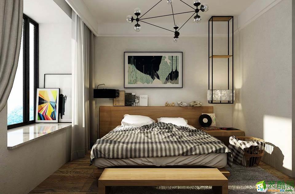济南城市人家装饰-90平米北欧两居室装修案例