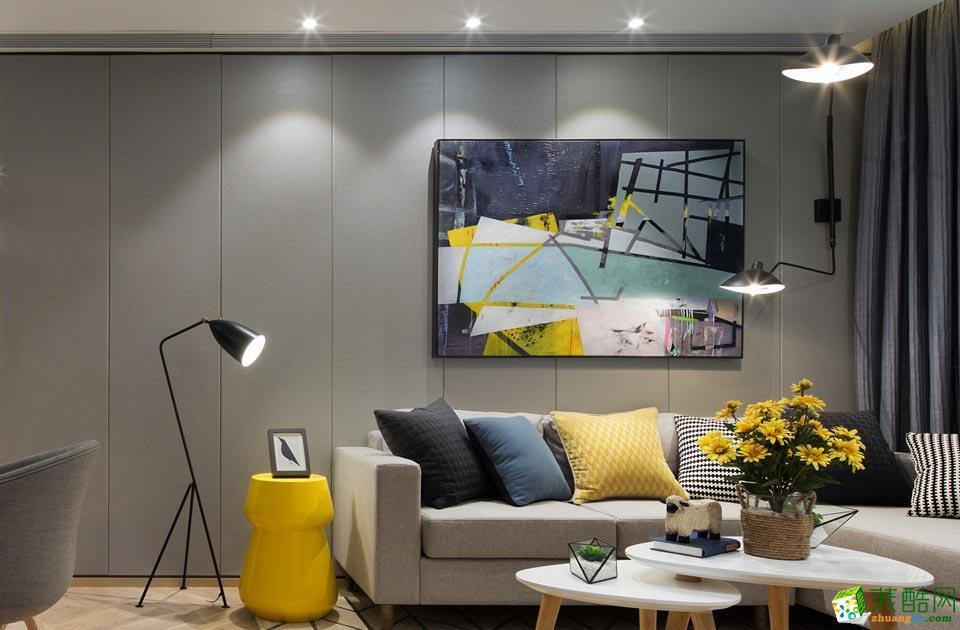 济南九创装饰-80平米现代简约两居室装修案例