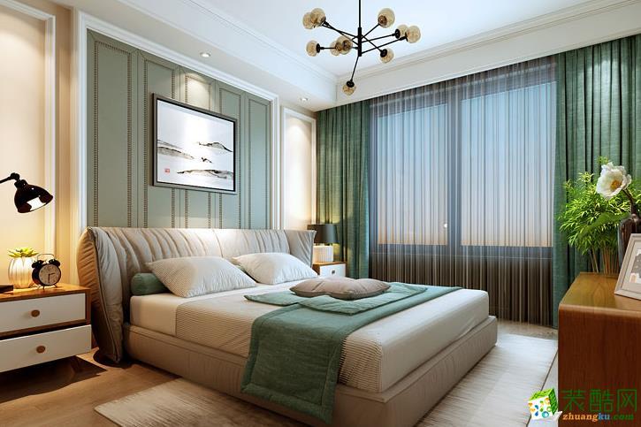 济南大业美家装饰-110平米简美三居室装修案例