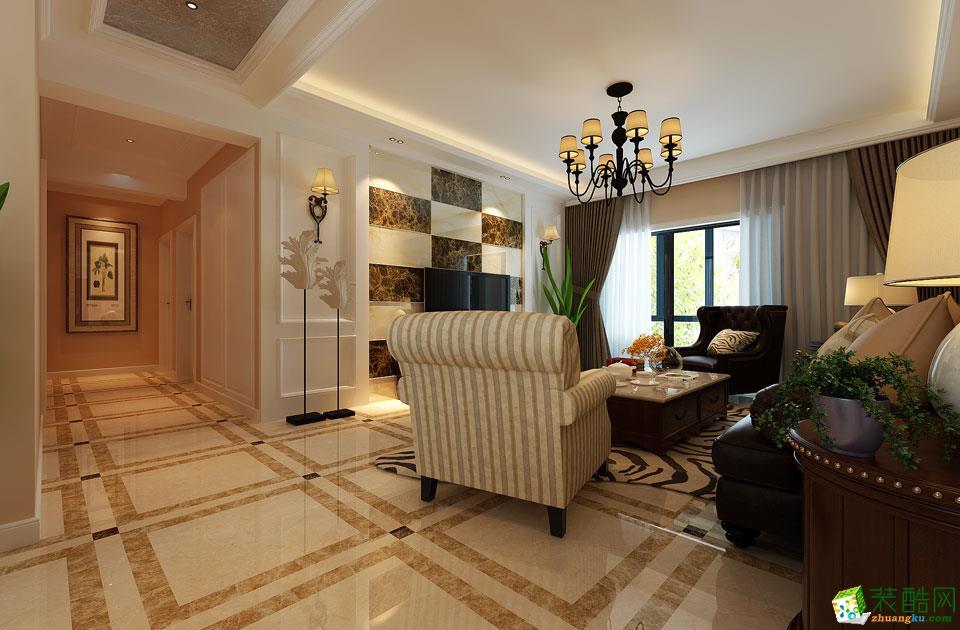 济南泉雅装饰-120平米现代简约三居室装修案例