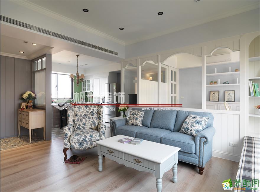 枫雅装饰―纯美时光118方简美风格三室一厅装修