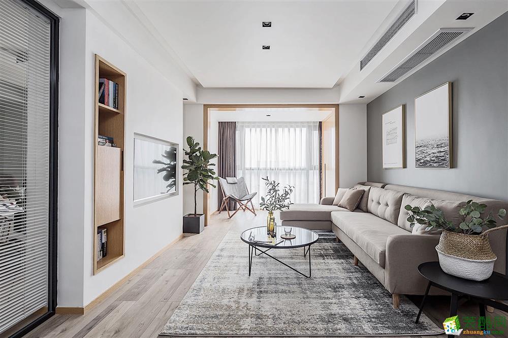 鹏发装饰―86方现代风格两室一厅装修效果图