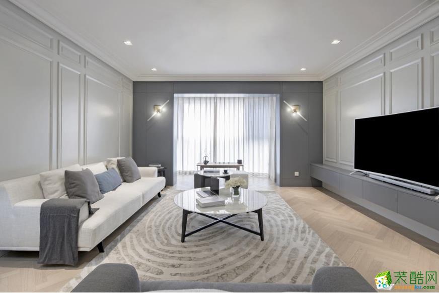 诺亚方舟装饰―102方极简风格三室一厅装修效果图
