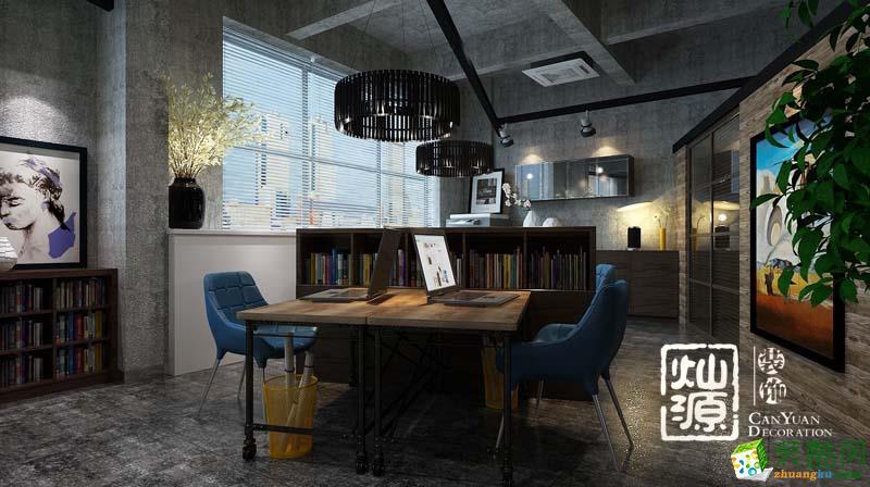 南宁办公室装饰―华发国宾壹号南宁工业风办公室设计案例