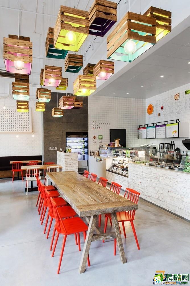 西安绿色主题餐厅装修效果图