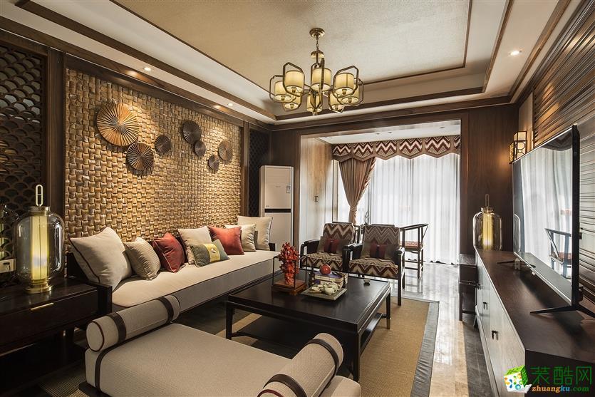 武汉新中式样板房装修―130方明式古雅风格装修