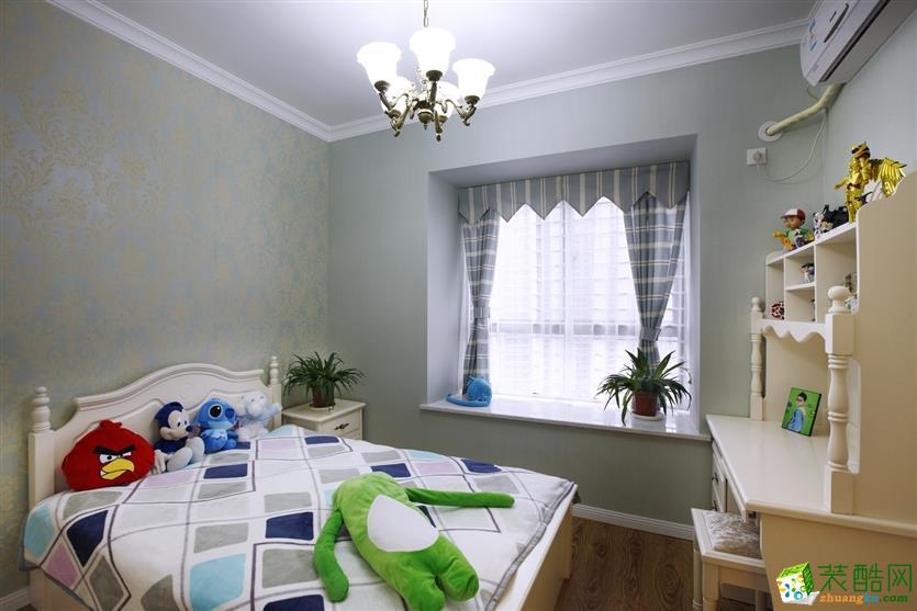 >> 武汉90平方装修—三室一厅简欧风格装修设计效果图图片