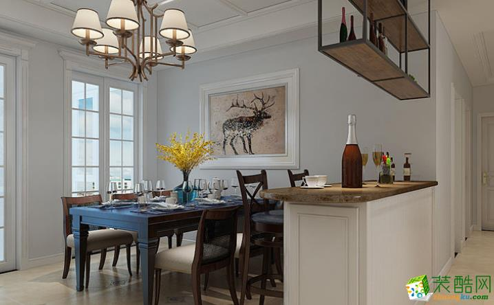 无锡欧景装饰-110平米美式三居室装修案例