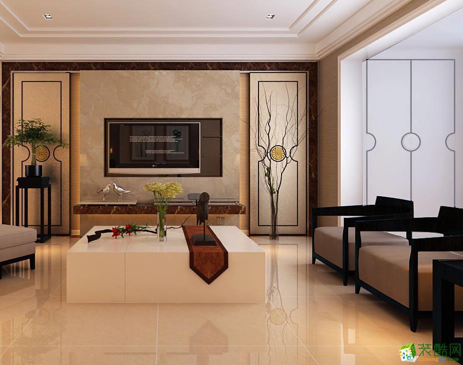 无锡润邦装饰-110平米现代简约三居室装修案例