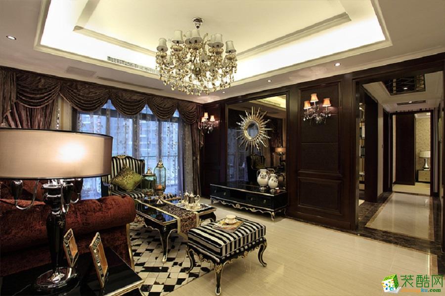 碧桂园260平米欧式风格别墅住宅装修案例效果图--九弘盛世