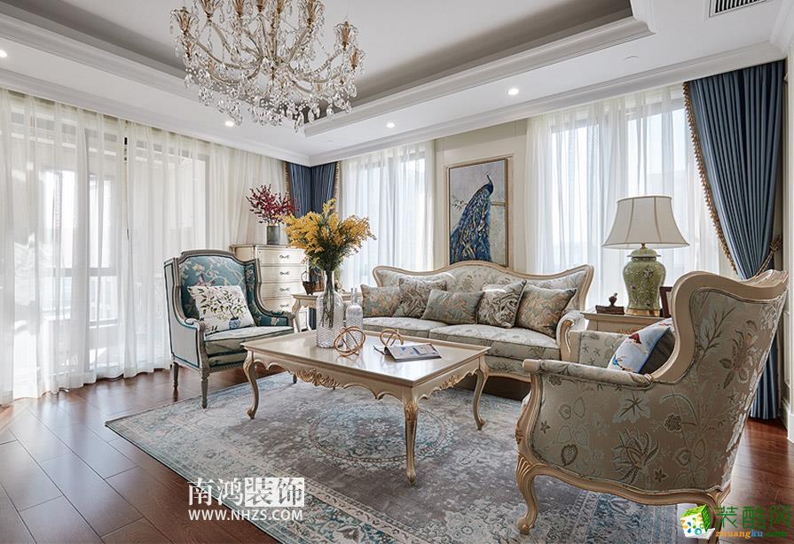 南鸿装饰―西溪诚园130平米三室两厅法式风格装修效果图