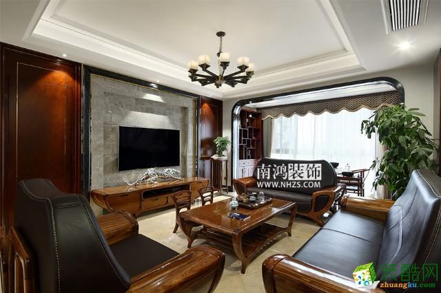 富阳170方大宅装修―四室两厅中式风格装修效果图
