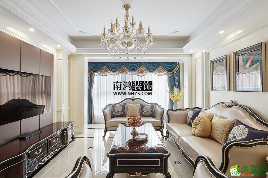 富阳120方装修―钱江府三室两厅欧式风格装修效果图
