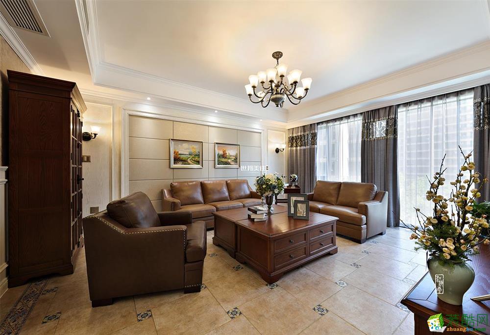 富阳160方装修―世邦装饰四室两厅简欧风格装修效果图