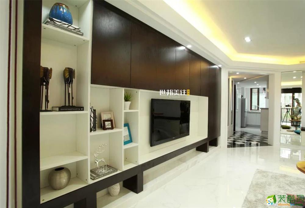 富阳90方装修―世邦美住三室一厅北欧风格装修效果图