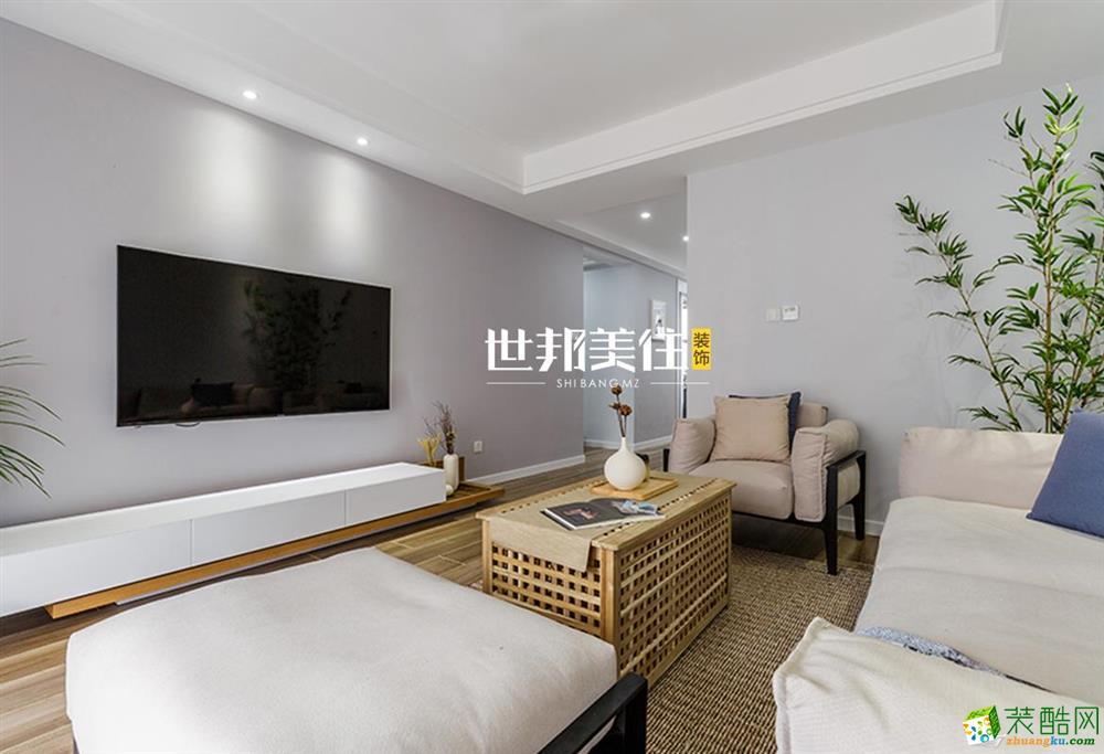 富阳114方装修―世邦美住装饰三室两厅现代风格装修效果图