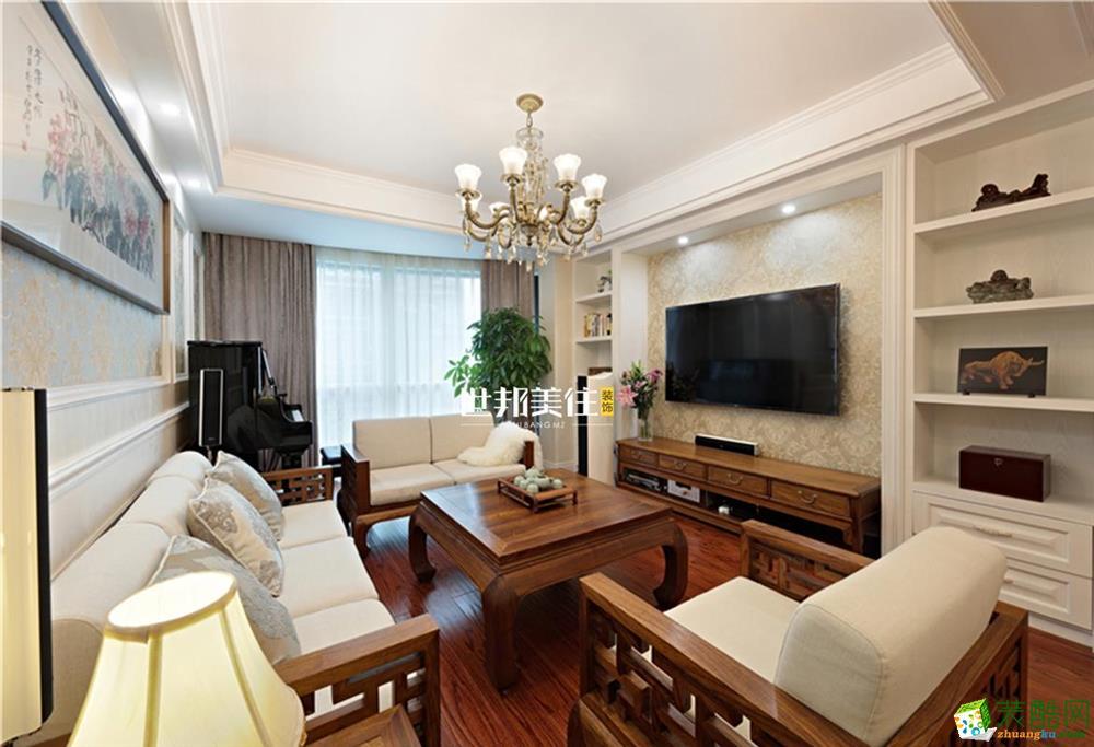 富阳70平米装修―世邦美住两室一厅简欧风格装修效果图
