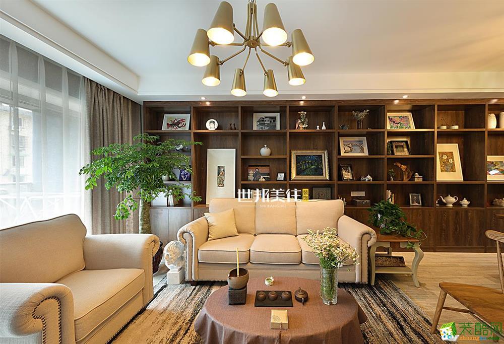 富阳130方装修―世邦美住三室两厅新中式半包装修
