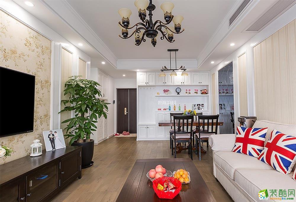 富阳89平米装修―世邦美住装饰两室一厅简美风格装修