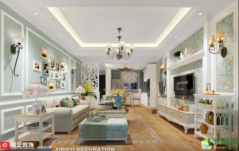南宁130平米装修―凤岭名园地中海风格三室两厅
