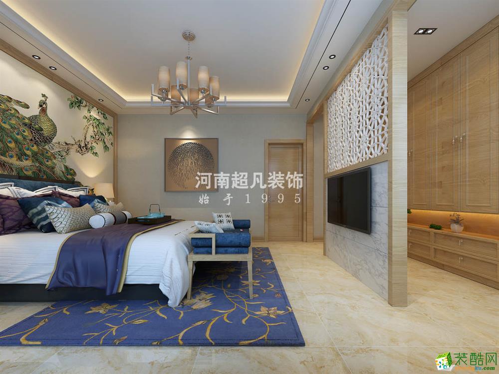 【超凡装饰】怡丰森林湖320平别墅中式风格装修效果图