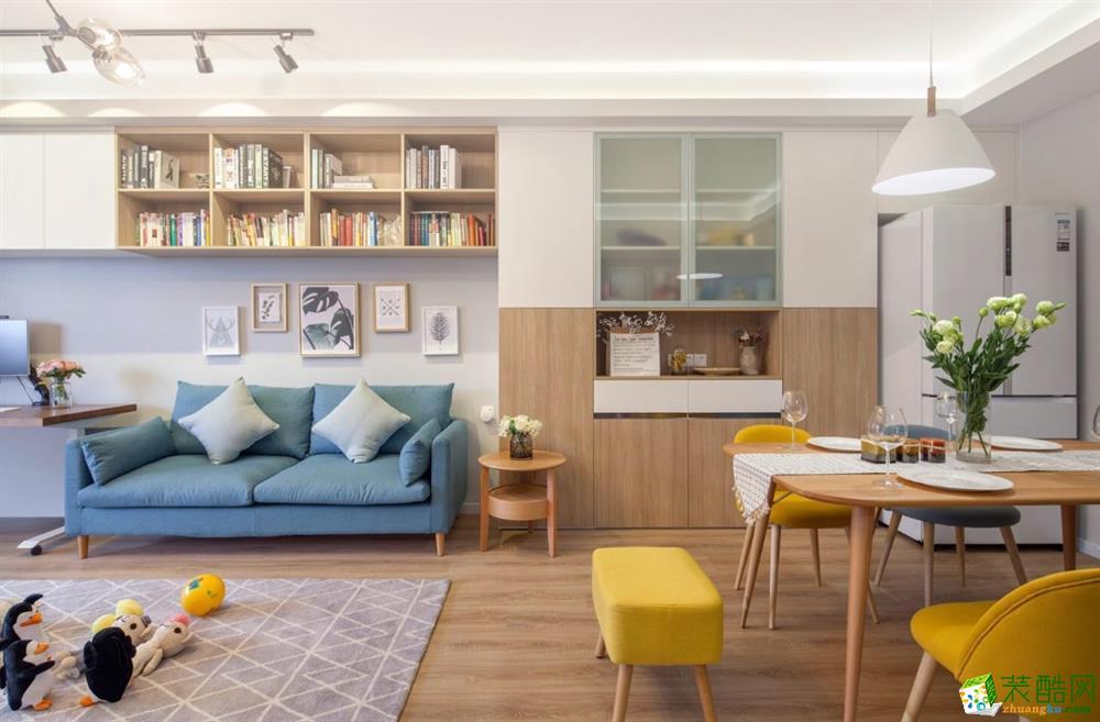 武汉120平米装修―百步亭江南郡三室两厅北欧风格