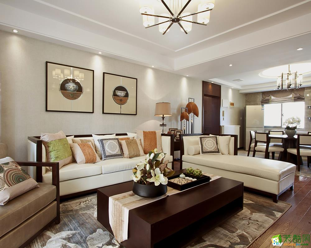 >> 中式風格168平米四室兩廳裝修案例效果圖--恒藝裝飾