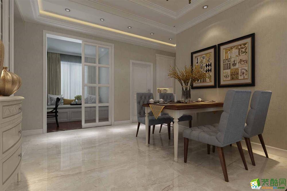 衡阳千筑装饰-115平米简欧三居室装修案例