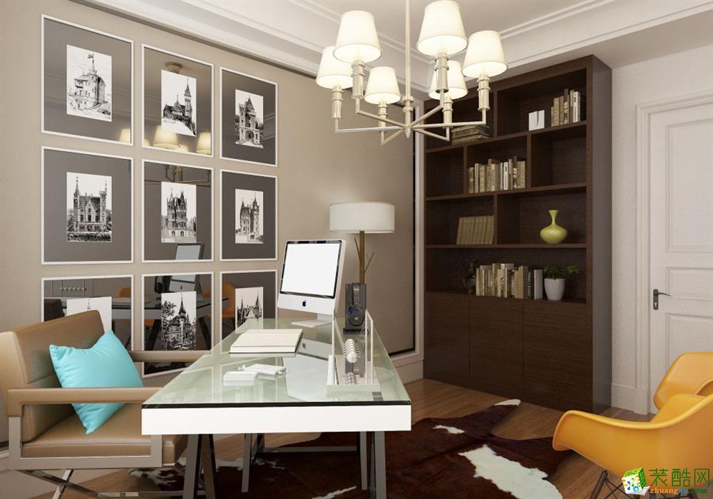 衡阳宅速美装饰-125平米混搭三居室装修案例