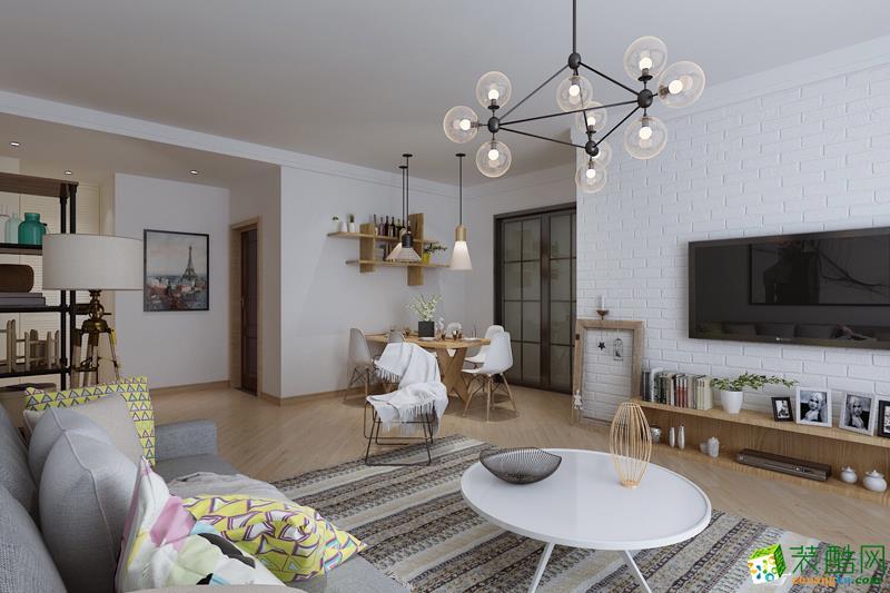 西安居泰隆装饰-90平米北欧两居室装修案例