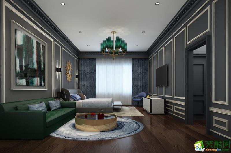 西安快一步装饰-120平米混搭三居室装修案例