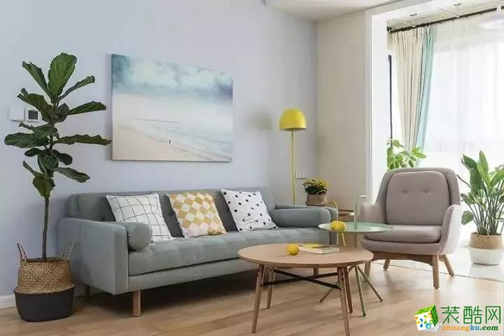 【道坤裝飾】珊瑚水岸北歐風三居室這樣設計,文藝小清新!