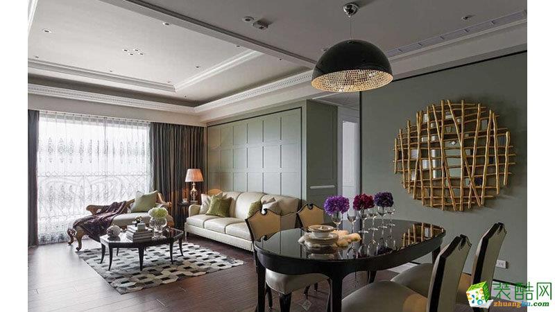 美式风格三室两厅装修效果图
