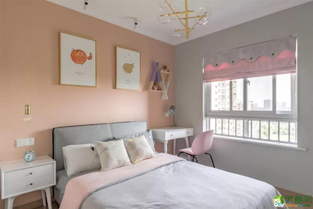 武汉98平三室一厅装修-清新小北欧―汇悦天地