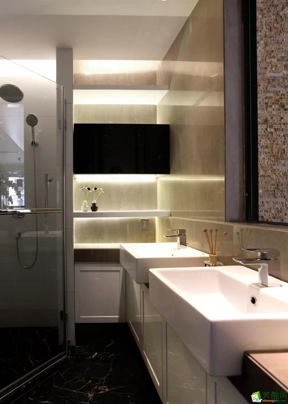 武汉140方三室两厅装修―=绿地汉口中心作品