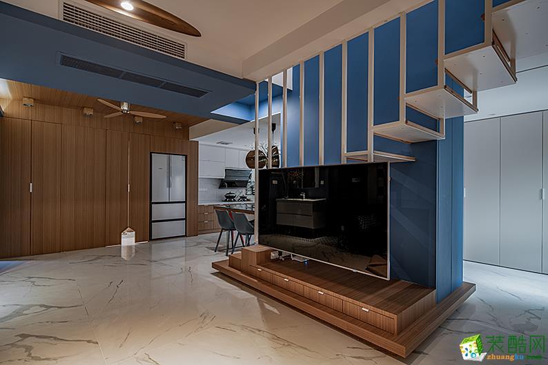 现代简约风格150平米跃层住宅设计案例效果图--朵墨设计