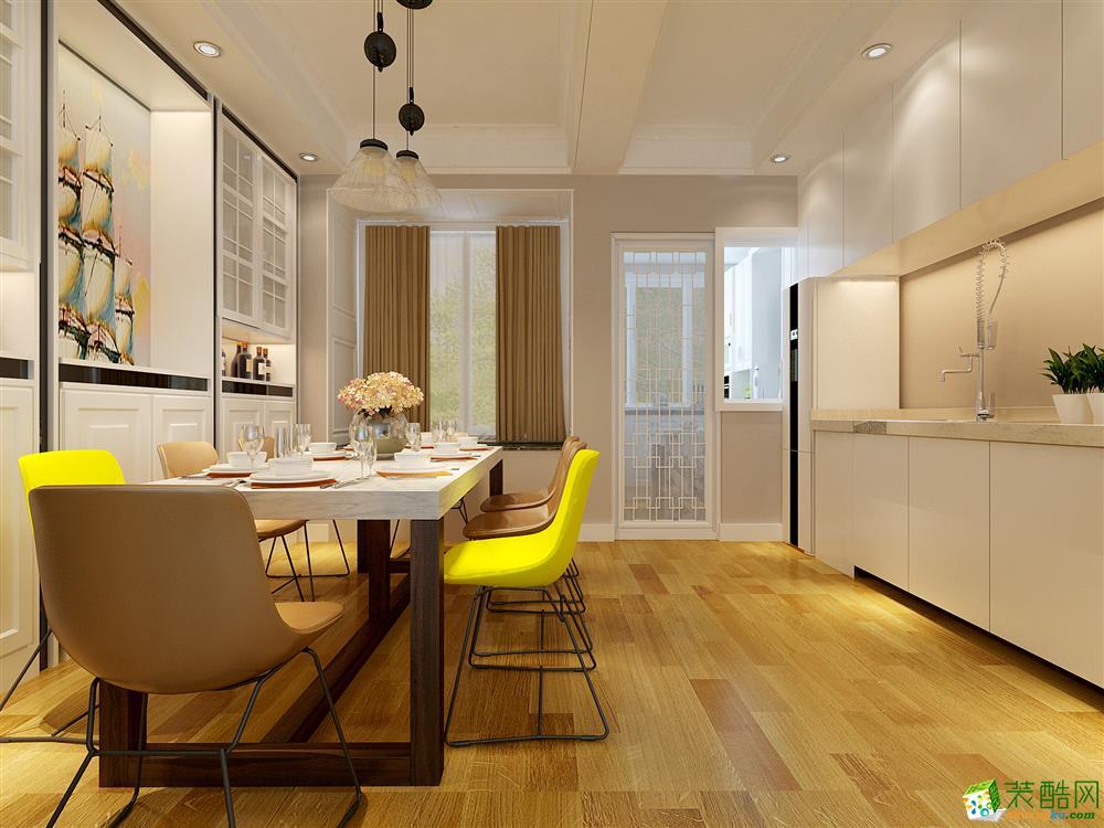 >> 150平米现代风格三室两厅装修案例效果图--盛世家园装饰