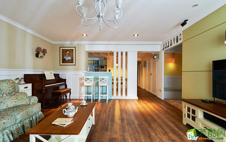 美式风格126平米三室两厅装修案例效果图--辞旧迎新装饰