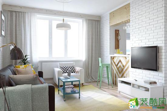 北欧风格84平米两室两厅装修案例效果图--辞旧迎新装饰