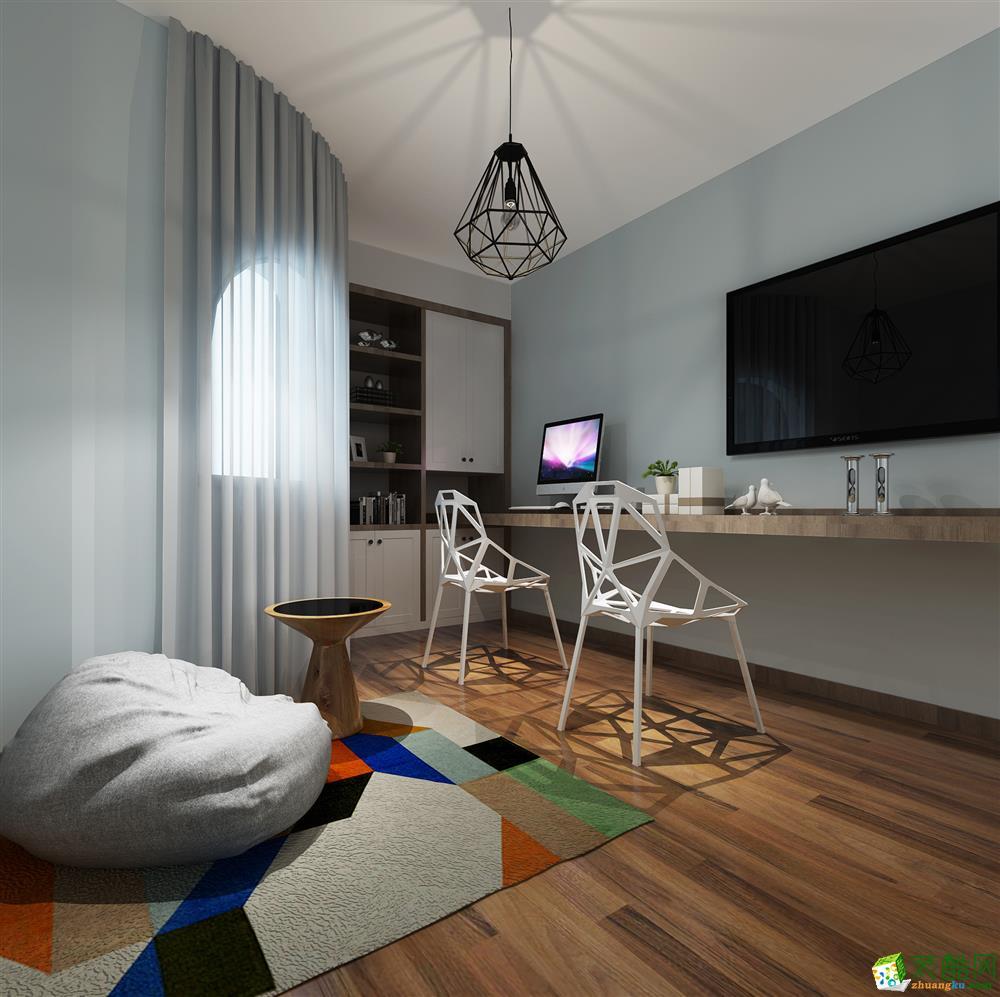 南宁115方三室两厅装修―盛天东郡现代风格设计作品