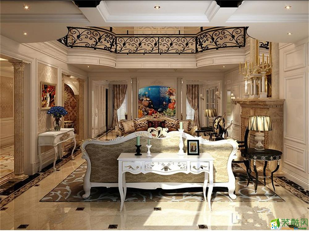 900平独栋别墅欧式古典风格