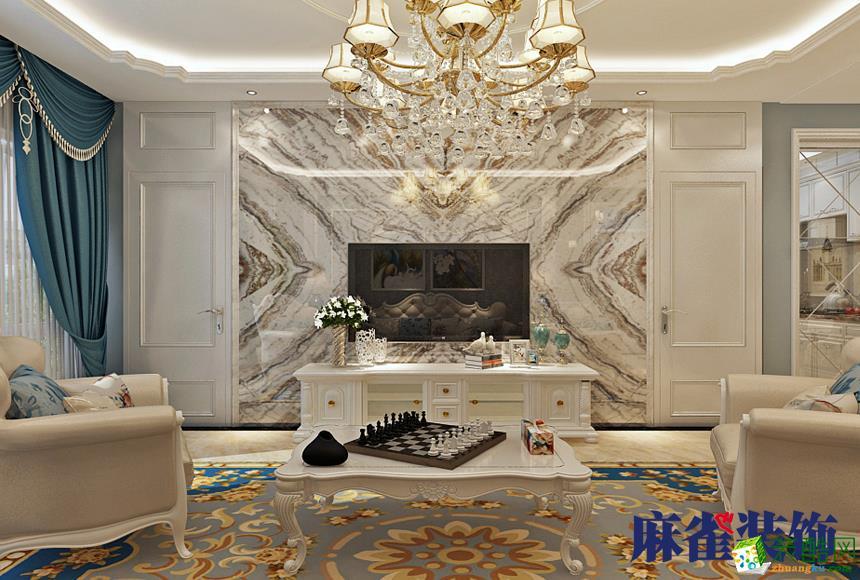 哈尔滨80平米两室一厅装修―宝宇天邑澜湾欧式风格作品