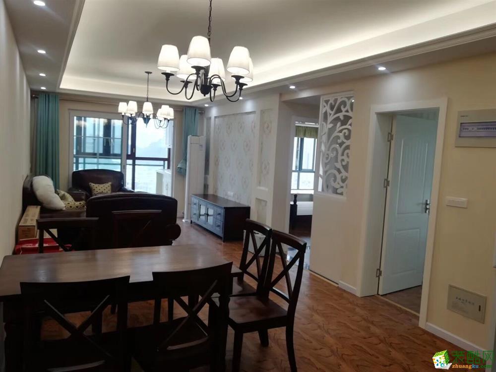 十堰92平米含柜子灯具家具窗帘两室两厅―东风阳光城简美整装