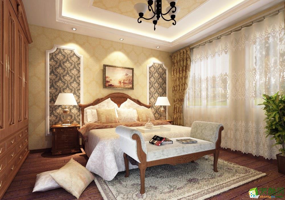 重庆127平米装修--增柏驿装饰汇祥林里3000 美式三室一厅装修案例效果图赏析