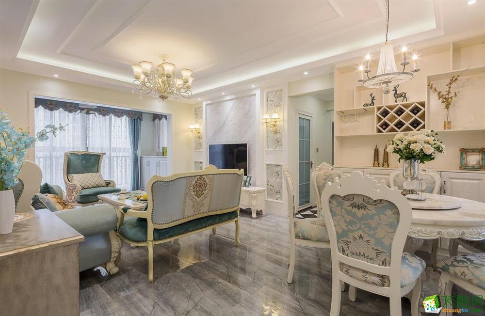 武汉108方三室两厅装修―美颂雅庭欧式风格设计作品
